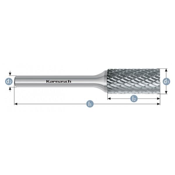 Фрезер за метал, форма ZYA, цилиндрична, HP-3-CUT