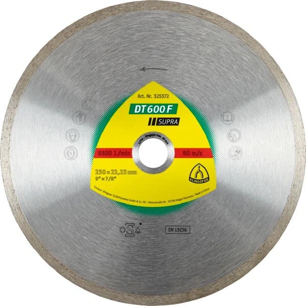 Диамантен диск за керамика DT 600 F Supra
