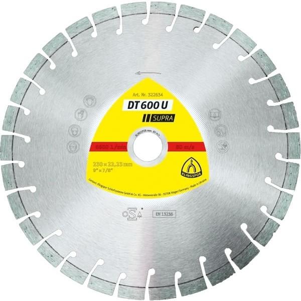 Диамантен диск за армиран бетон DT 600 U Supra