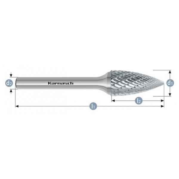 Фрезер за метал, форма SPG , дъговидни с остър връх, HP-3-CUT