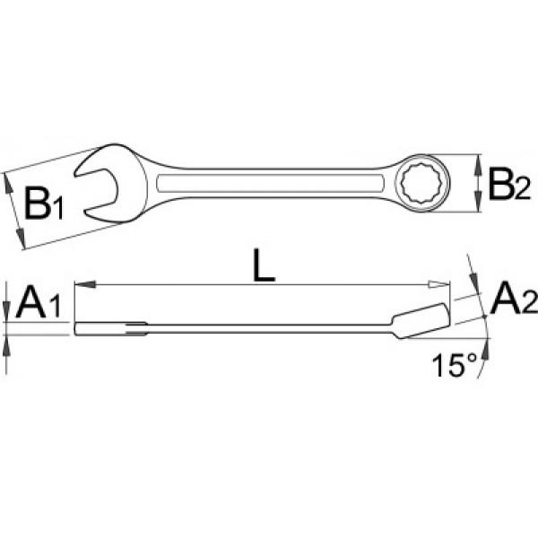 Ключ звездогаечен – 125/1 Unior