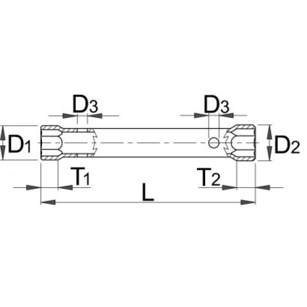 Ключ глух – 215/2 Unior