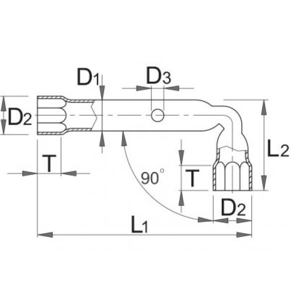 Ключ глух Г-образен, кован – 217/2 Unior
