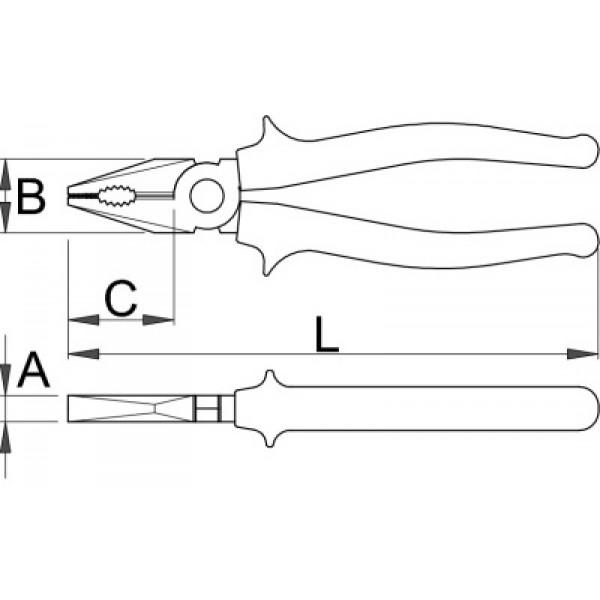 Клещи комбинирани – 406/4G Unior