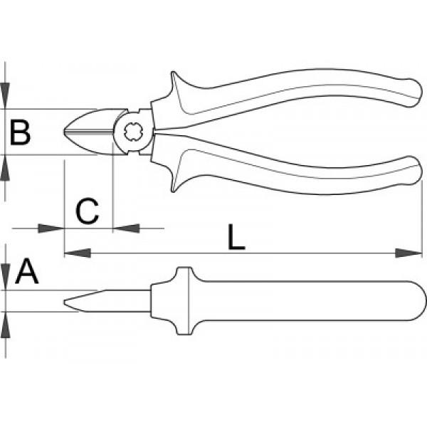 Клещи усилени резачки – 466/1BI Unior