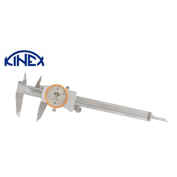 Шублер с индикаторен часовник и дълбокомер Kinex 0-150 mm, 0,02 mm