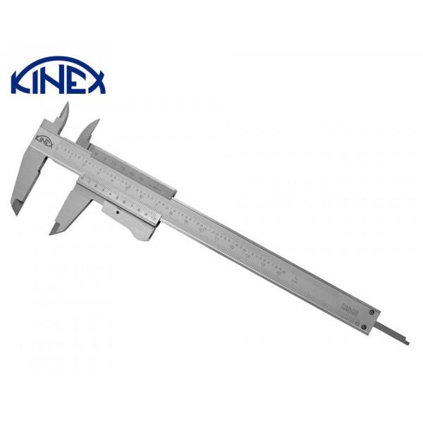 Шублер KINEX със заключващ палец и дълбокомер 0-150 mm, 0.02 mm monoblock, Inox