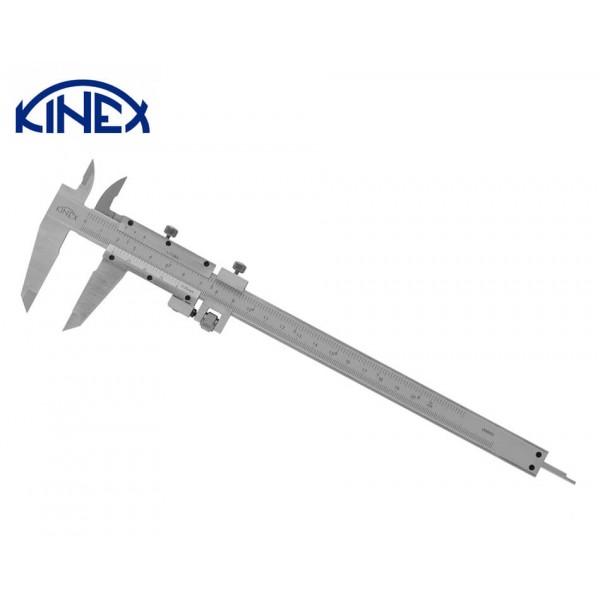 Шублер KINEX със заключващ винт и дълбокомер 0-200 mm, 0.02 mm