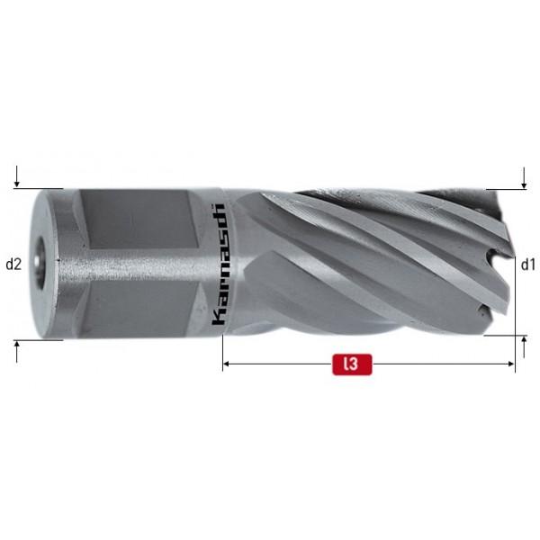 Боркорона за метал за магнитна бормашина, HSS-XE, захват Weldon 19,  дължина 25mm