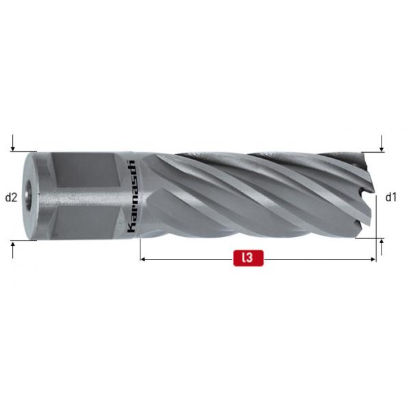 Боркорона за метал за магнитна бормашина, HSS-XE, захват Weldon 19,  дължина 50mm